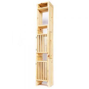 Torre angosta, 3 niveles, con 2 puertas + tapa