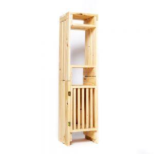 Torre angosta, 2 niveles, con 1 puerta + tapa